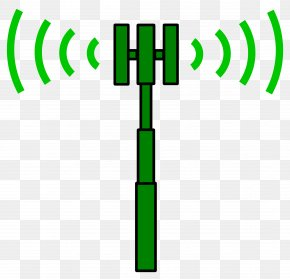 Transmitter Cliparts - Cell Site Telecommunications Tower Aerials Clip Art PNG
