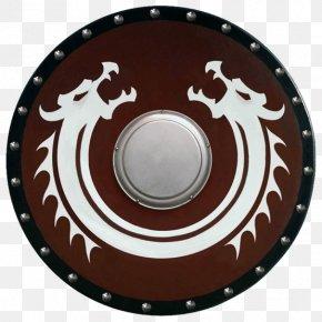 Viking SHIELD - Viking Norse Dragon Shield Norsemen PNG
