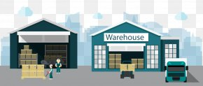 Vector Warehouse Store - Warehouse Factory Distribution Business PNG