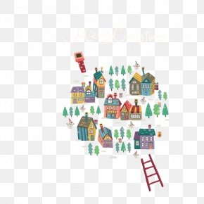 Housing Ladder - Santa Claus Snow Globe Christmas Illustration PNG