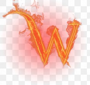Burning Letter - W Letter English Alphabet Flame PNG