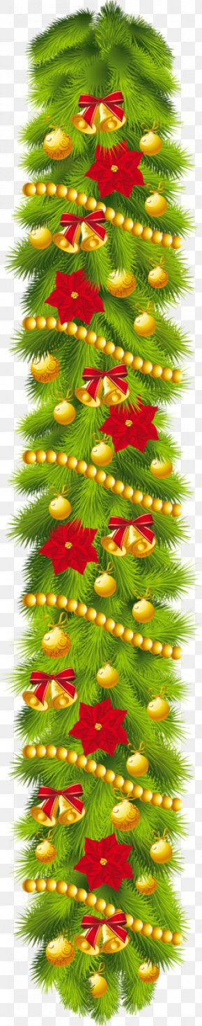 Garland Cliparts - Christmas Decoration Garland Wreath Clip Art PNG