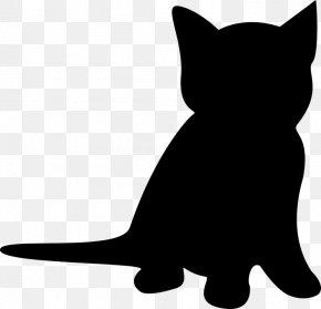 Kitten - Kitten Cat Silhouette Clip Art PNG