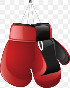 Red Boxing Glove Element - Boxing Glove Clip Art PNG