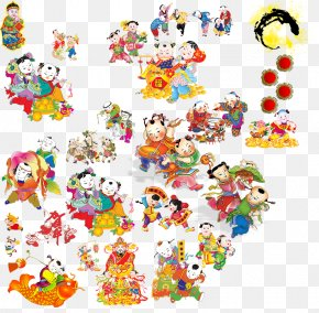 Chinese New Year Doll Style - China Chinese New Year Euclidean Vector PNG