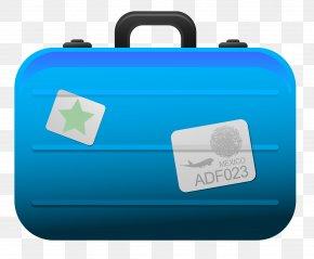 Transparent Blue Suitcase Clipart Picture - Suitcase Baggage Icon Clip Art PNG