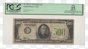 United States - United States One-dollar Bill Federal Reserve Note United States Dollar Banknote PNG