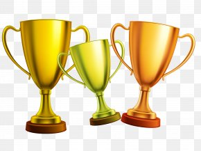 Gold Silver Cup Creative - Cup Gold Medal Trophy Clip Art PNG