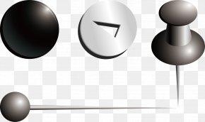 Push Pin Vector Material - Nail Drawing Pin Material PNG