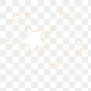 Yellow Five-pointed Star Halo Star Effect Elements - Point Line Icon PNG
