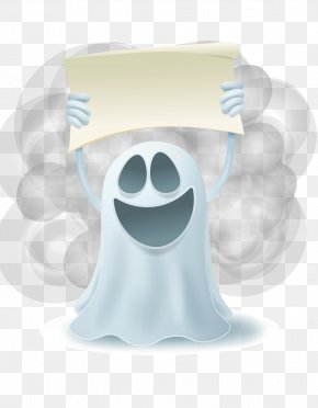 Halloween Kid Laughing Vector White Placards - Halloween Euclidean Vector Illustration PNG