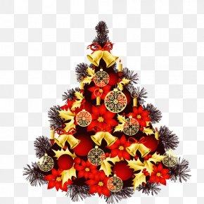 Christmas Tree - Christmas Tree New Year Christmas And Holiday Season Greeting Card PNG