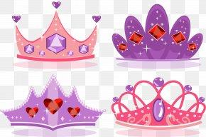 Pink Purple Romantic Crown - Princess Crown Icon PNG