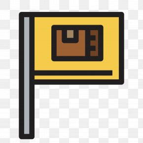 Yellow Banner - Flag Icon PNG