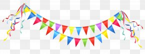 Transparent Party Streamer Clipart Picture - Party Birthday Clip Art PNG