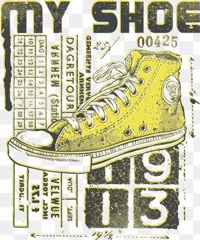 Creative Shoes Pattern Printing - Printed T-shirt Shoe Clothing PNG