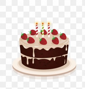 Vector Strawberry Cake - Birthday Cake Cakes And Cupcakes Wedding Cake Chocolate Cake PNG