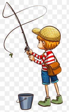 Lady Fishing Cliparts - Fishing Rod Fisherman Clip Art PNG