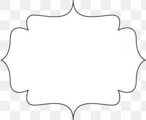 Elegant Frame Cliparts - Paper Line Black And White Angle Point PNG