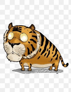 Zodiac Tiger - Tiger Cat Chinese Zodiac Wu Xing Illustration PNG