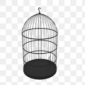 Dome Black Iron Cage - Birdcage Domestic Canary 3D Modeling PNG