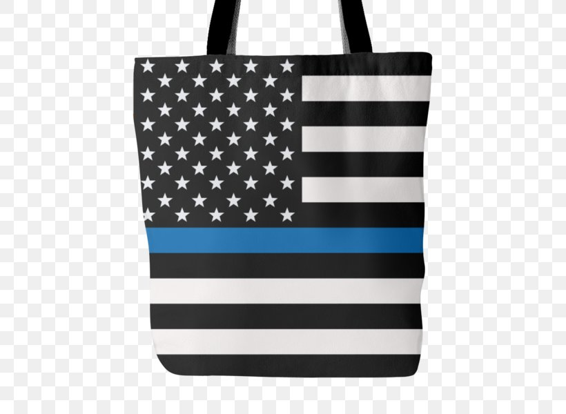 Thin Blue Line The Thin Red Line United States Police Officer, PNG, 600x600px, Thin Blue Line, Bag, Black, Black And White, Blue Lives Matter Download Free