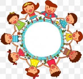 Cartoon Children Holding Hands Celebrating - Childrens Day Clip Art PNG