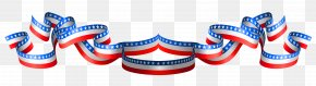 USA Flag Band Decoration Clipart - Flag Of The United States Clip Art PNG
