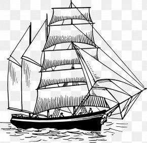 Ship Outline - Yacht Sailboat Sailing Ship Clip Art PNG