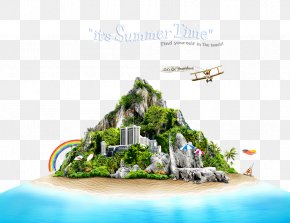 Synthesis Island House - Drawing Summer PNG