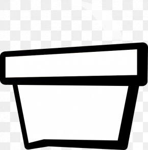 Flower Pot Outline - Flowerpot Black And White Clip Art PNG