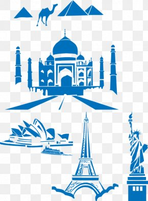 Sydney Cliparts - Sydney Opera House Taj Mahal Eiffel Tower New7Wonders Of The World PNG