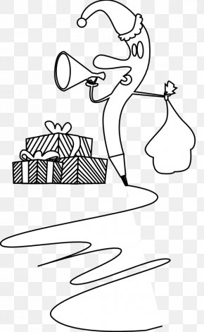 Quill Pen Clipart - Black And White Line Art Clip Art PNG