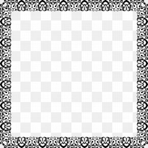 Exquisite Black Frame - Black And White Grayscale Clip Art PNG