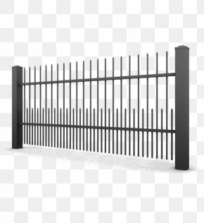 Fence - Fence Einfriedung Gate Wrought Iron Steel PNG