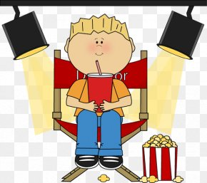 Boy Sitting Cliparts - Film Director Clapperboard Clip Art PNG