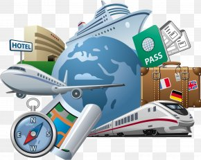 Fashion Elements - Travel Agent Air Travel Clip Art PNG