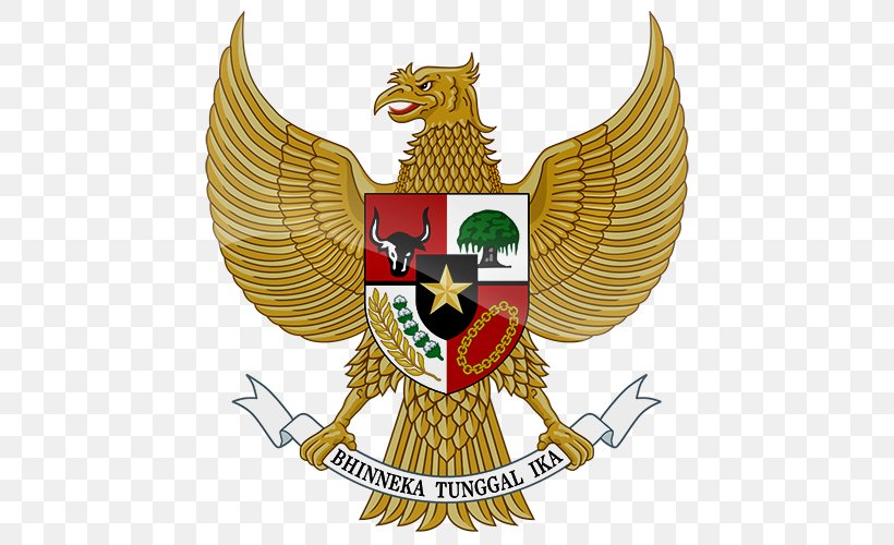 national emblem of indonesia pancasila garuda png 500x500px indonesia bhinneka tunggal ika brand coat of arms national emblem of indonesia pancasila