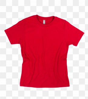 Printed T Shirt Red - T-shirt Polo Shirt Sleeve Red PNG
