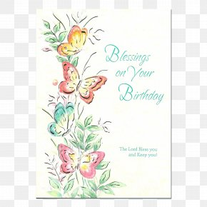 Birthday - Floral Design Birthday Greeting & Note Cards Blessing PNG