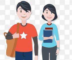 T-shirt - T-shirt Cartoon Friendship Human Behavior PNG