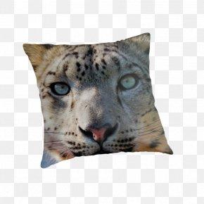 Pretty Snow - Snow Leopard Cheetah Throw Pillows Cushion PNG