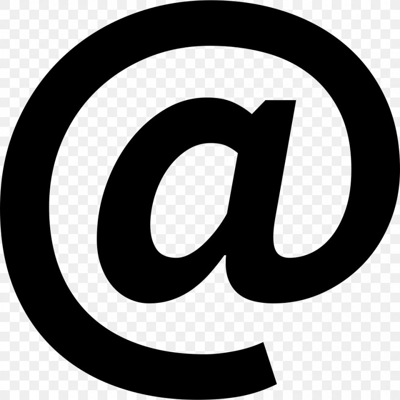 At Sign Symbol, PNG, 980x980px, At Sign, Ampersand, Area, Black And White, Brand Download Free