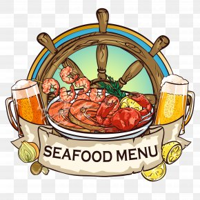 Floating Seafood Soup With Rice - Barbecue Grill Buffet Seafood Drawing PNG
