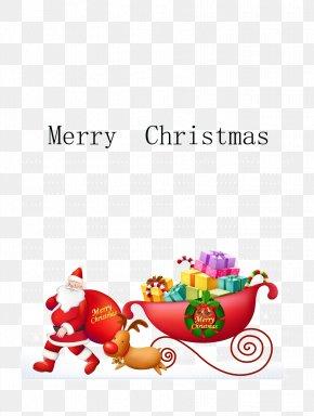Send Gift Santa Claus - Rudolph Santa Claus Reindeer Sled Clip Art PNG