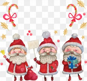 Cute Cartoon Christmas Santa Claus - Santa Claus Christmas Illustration PNG