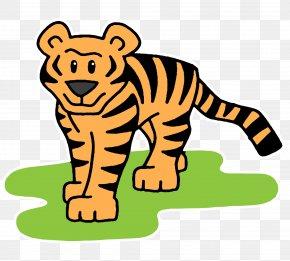 Tiger Cartoon - Bengal Cat Bengal Tiger Cartoon Clip Art PNG