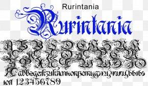 Flourishe - Logo Calligraphy Blackletter Art Font PNG
