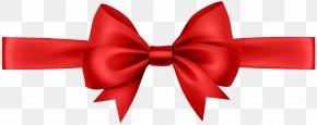 Ribbon With Bow Red Transparent Clip Art Image - Bow And Arrow Clip Art PNG