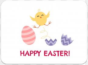 Happy Easter Text - Clip Art Illustration Product Logo Cartoon PNG